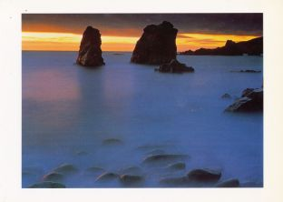 Landscapes of Spirit Blank Greetings Card - Twilight Surf, Big Sur Coast California - SALE